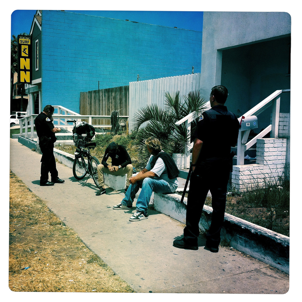Police operation near Huntington Beach Los Angeles CA California