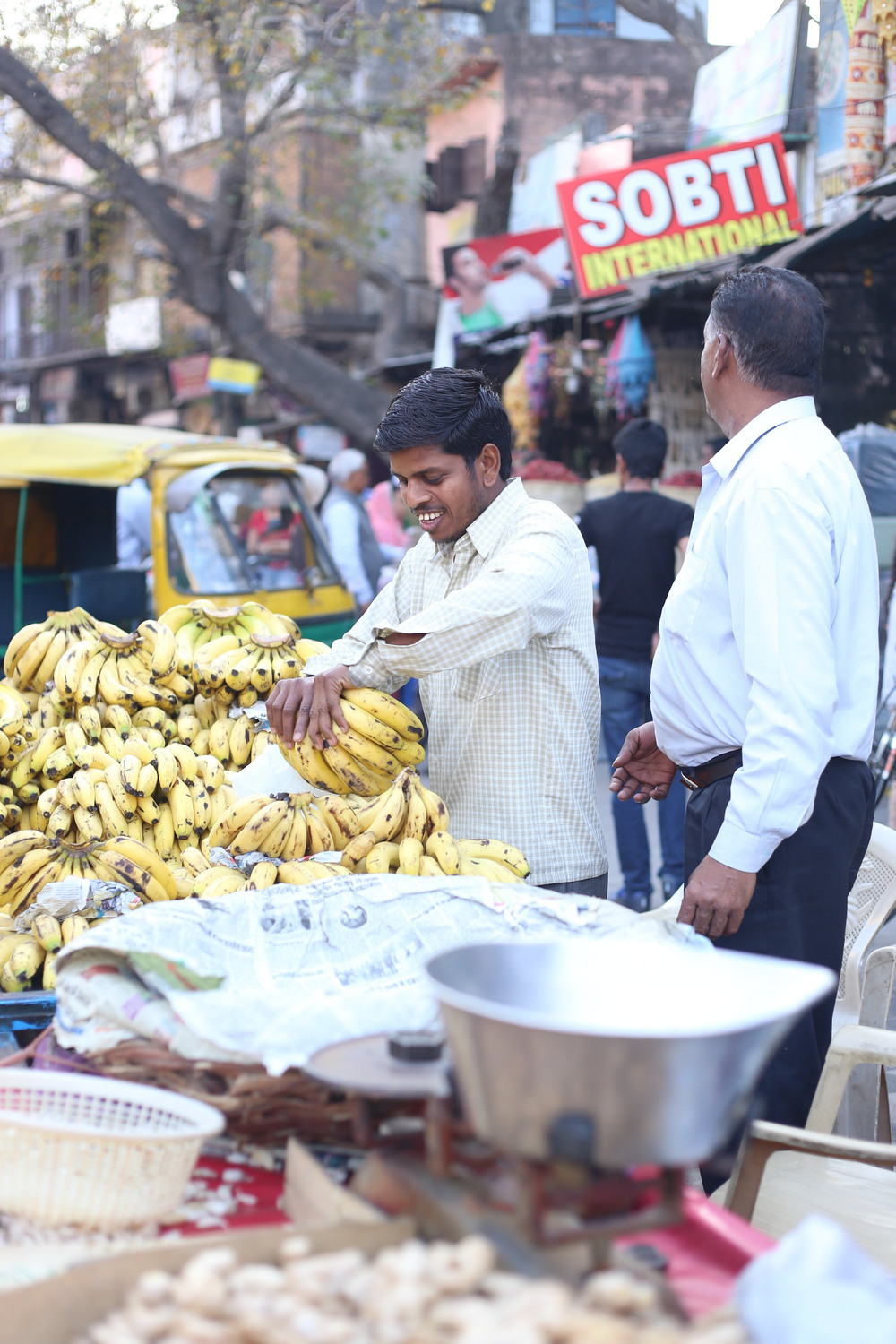 Banana stand - New Delhi, India