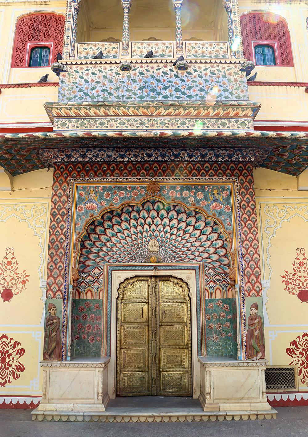 Door at the City Palace - Jaipur, India