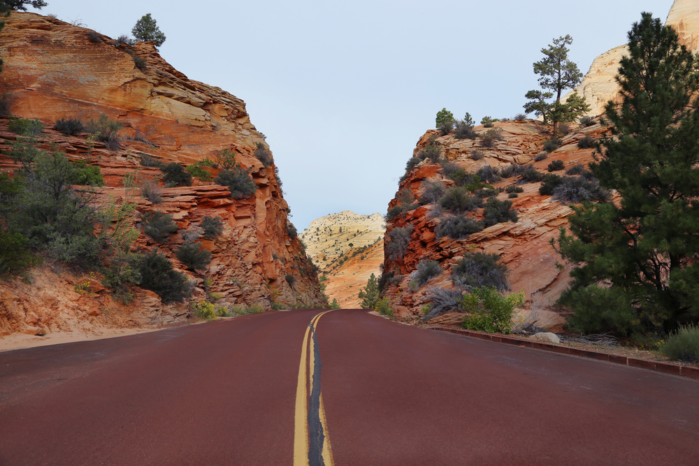 Entrance to Zion National Park