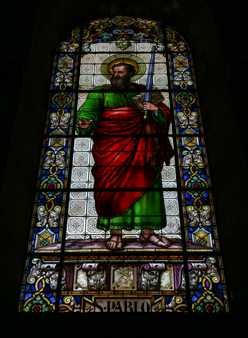 Stained glass in the Basilica