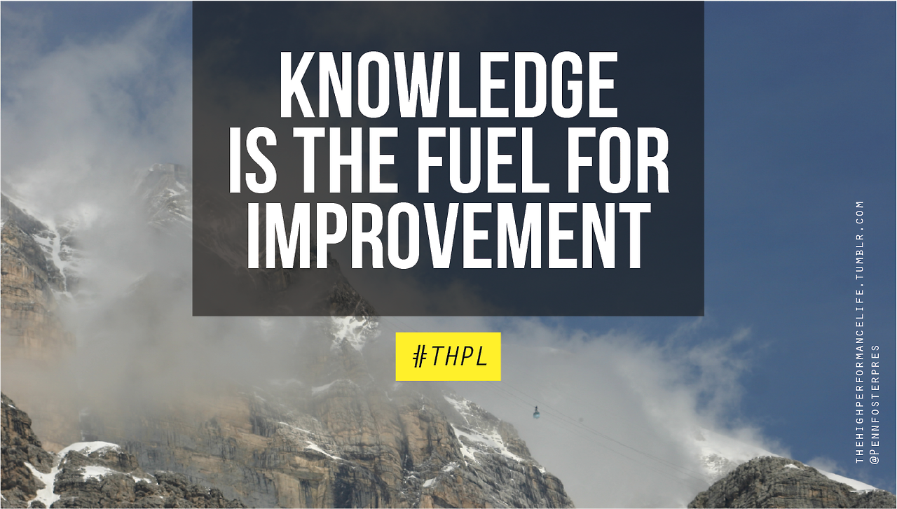 Knowledge is the Fuel for Improvement.