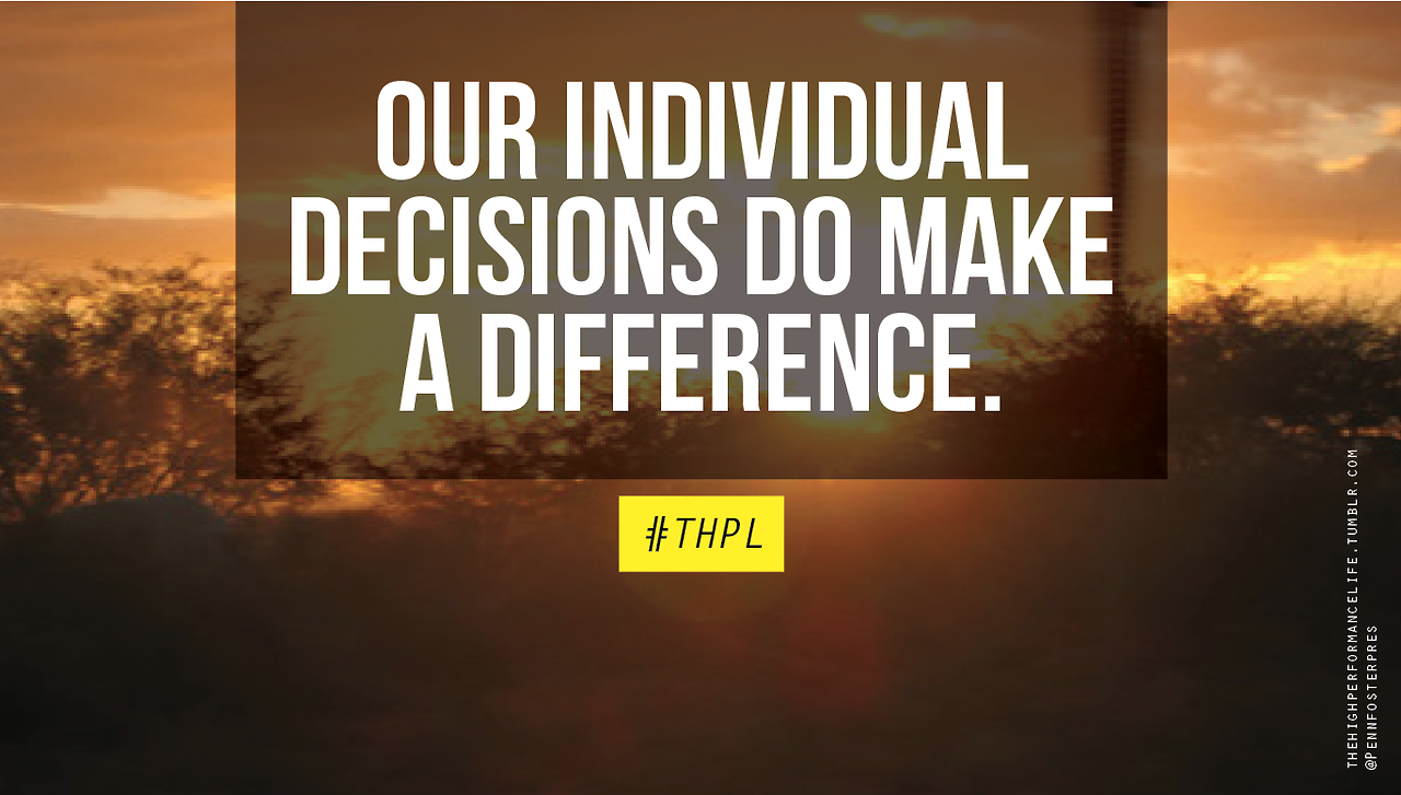 Our individual decisions do make a difference. Happy Earth Day!