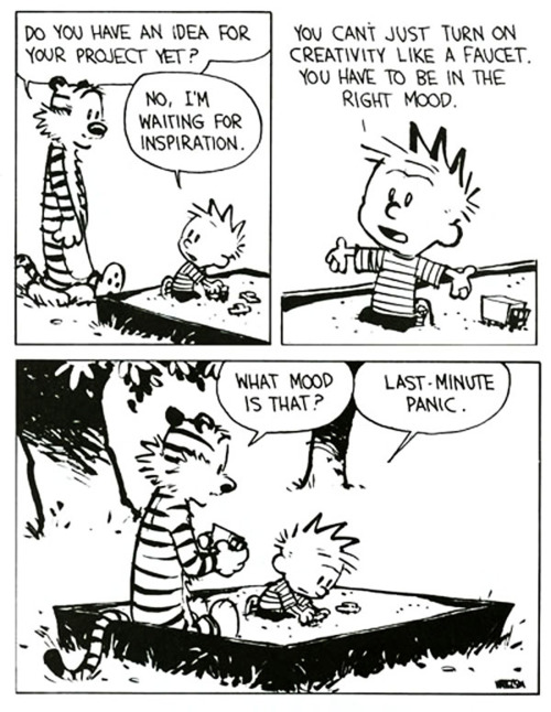 Calvin and Hobbes also have an appreciation for stress