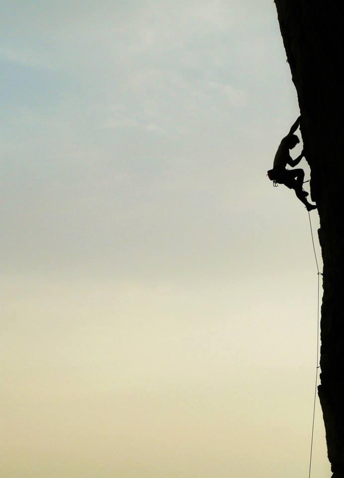 photo taken by Byron Beltrami, climber Mike Lewis