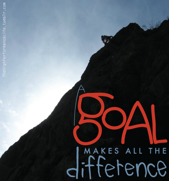 A goal makes all the difference