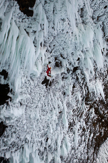 Category Finalist 2013: Energy Photographer: Christian Pondella Athlete: Tim Emmett Location: Helmcken Falls, Wells Grey Provincial Park, BC, Canada