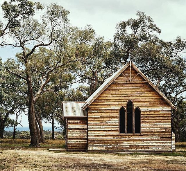 VENUE RECOMMENDATION | Tanglewood Estate ••• #Repost @tanglewoodestate ・・・ We found this 100+ year old gem of a chapel in Woomelang, out in central Vic. Our incredible team of builders at @mattjohno1971 gently took her down in pieces and she was transported over 450km to her new home at Tanglewood. She's been waiting for over a year to be put together again and we think she's pretty happy with her new home, looking out at a view of the ocean. What a life this old girl has had, the things she's seen and heard, the stories she's been a part of! We can't wait for all the new memories to be made and the celebrations to be had in here for another 100+ years! ⛪️