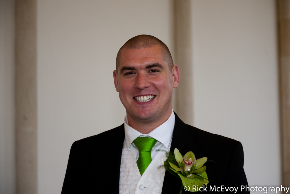 The Groom by Rick McEvoy, Dorset Wedding Photographer