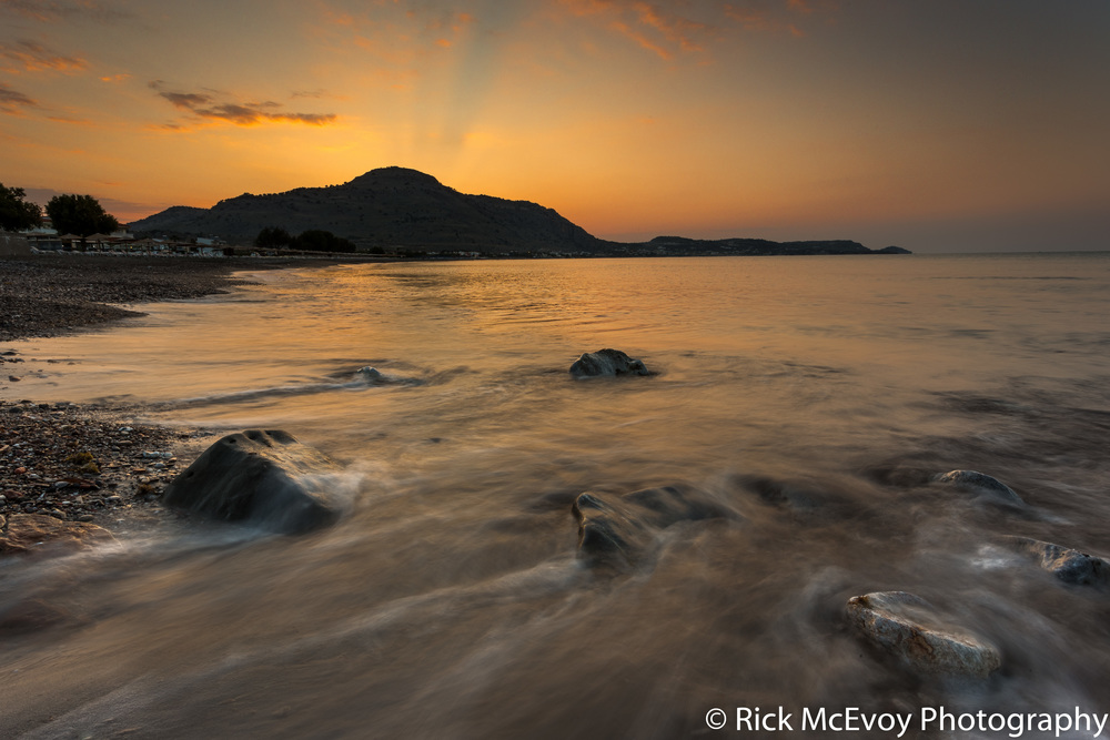 Sunrise, Lardos, Rhodes, Greece, by professional photographer Rick McEvoy