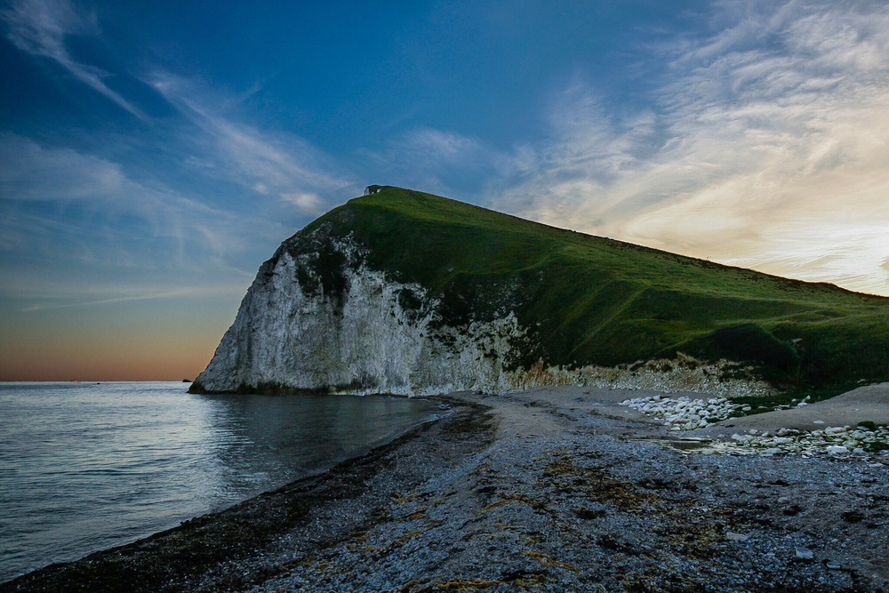 The Jurassic Coast, Dorset, take at sunset