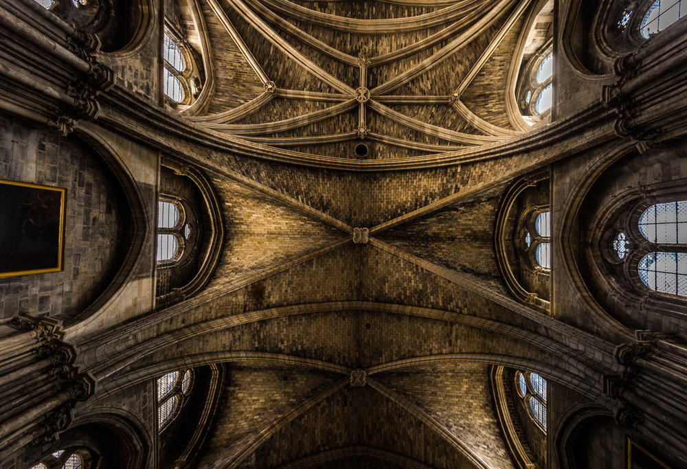 Interior Shot, Bordeaux Cathedral, by Rick mcEvoy, Architectural Photographer