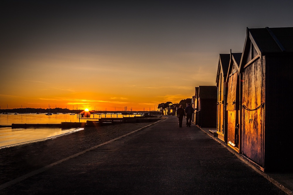 Beach Hut Sunset, Hamworthy, Poolre, Dorset