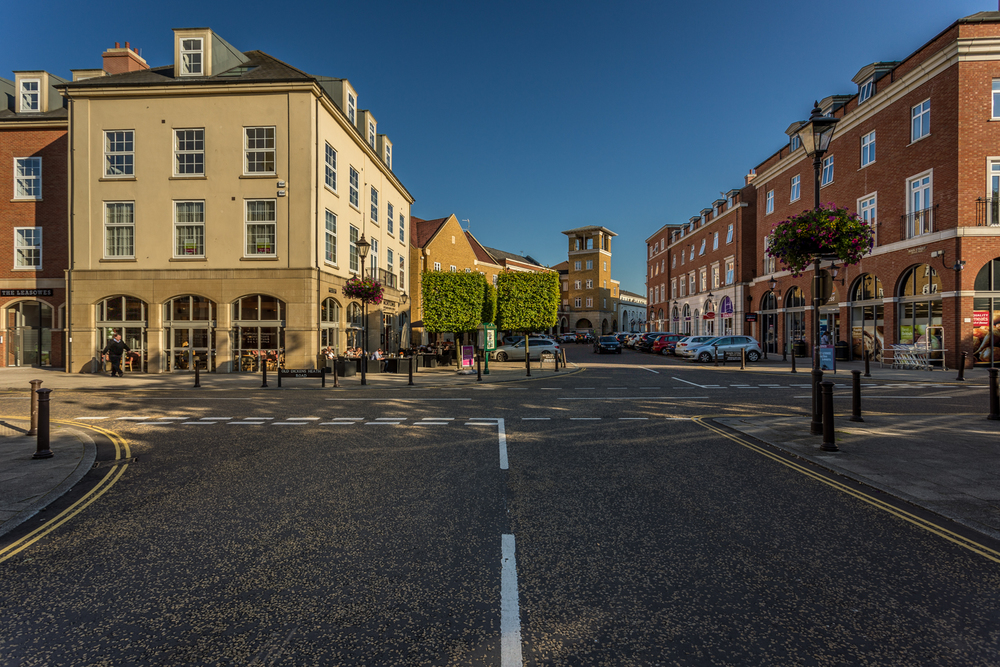 Main street, Dickens Heath, by Rick McEvoy Photography
