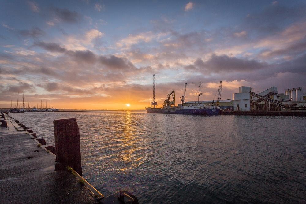 Poole Quay sunrise, Dorset