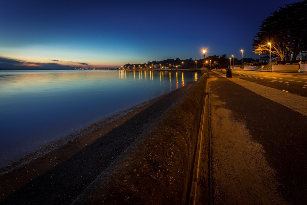 Sandbanks in the blue hour by Rick McEvoy Dorset photographer