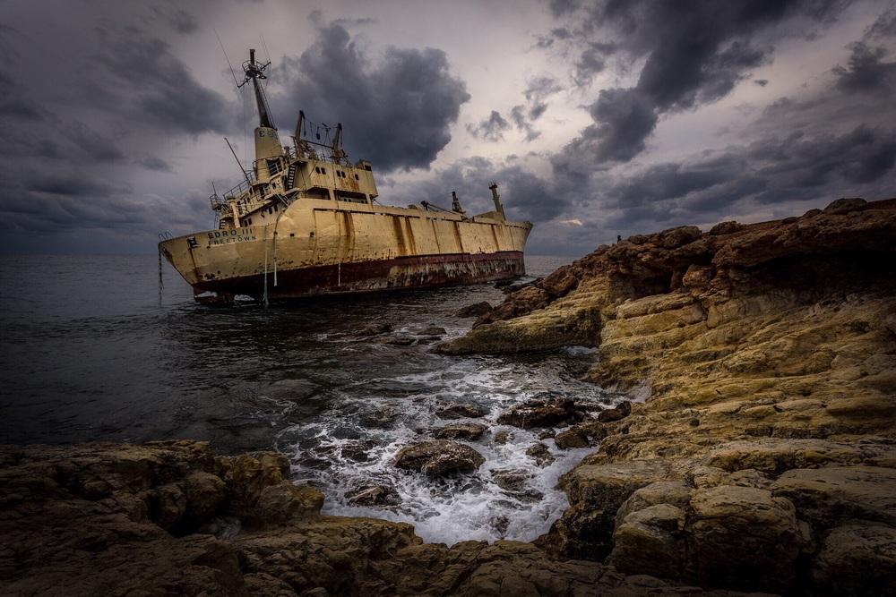 Shipwreck, Cyprus, by Rick McEvoy landscape photography