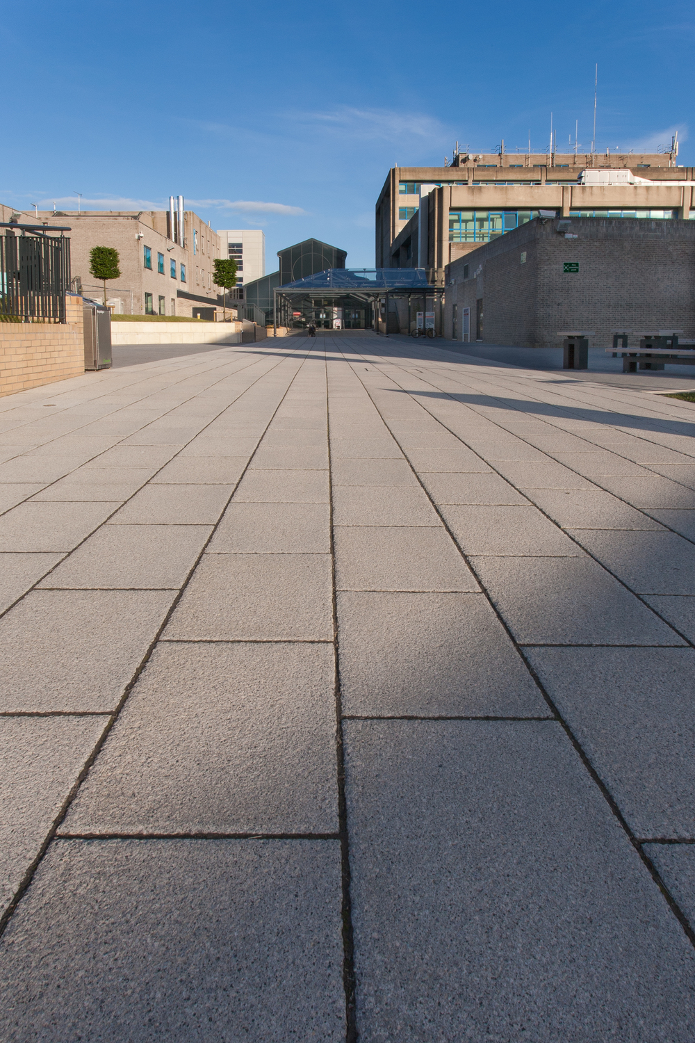 Construction product photography by Rick McEvoy - Bournemouth University Marshalls paving