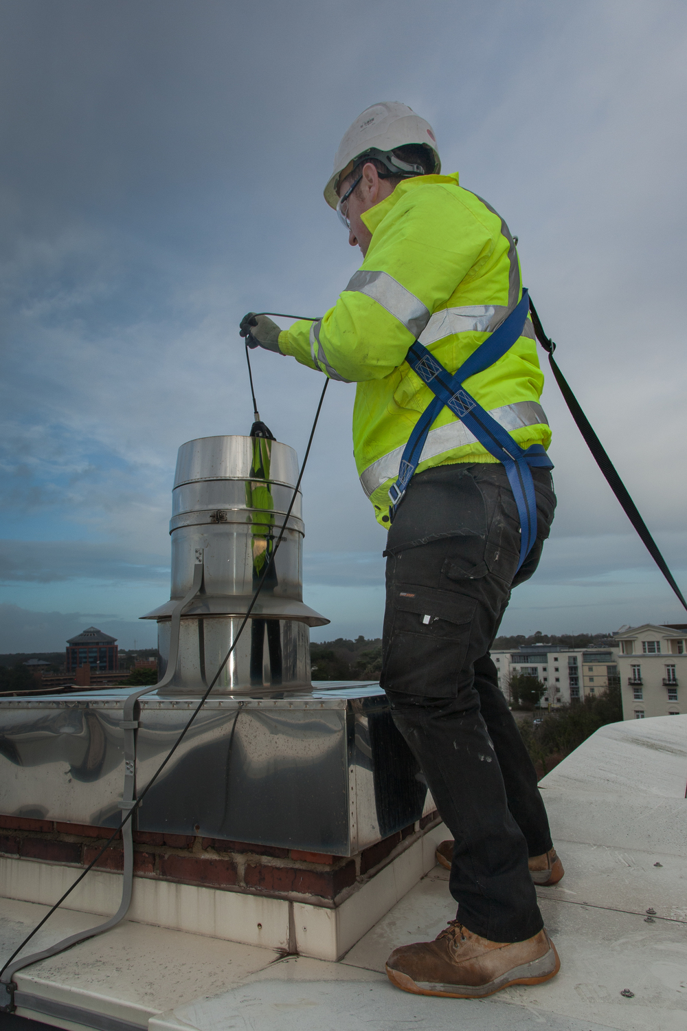 Flue Inspection by Flustax, Premier Inn Hotel, Bournemouth - commercial photography by Rick McEvoy
