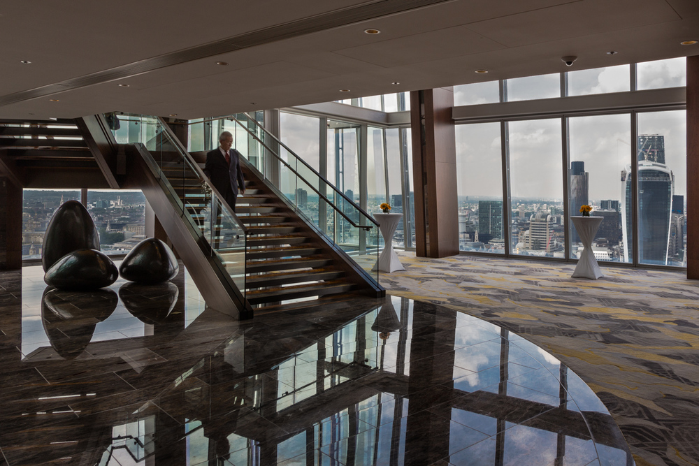 The London Shard - interior shot - original Lightroom edit