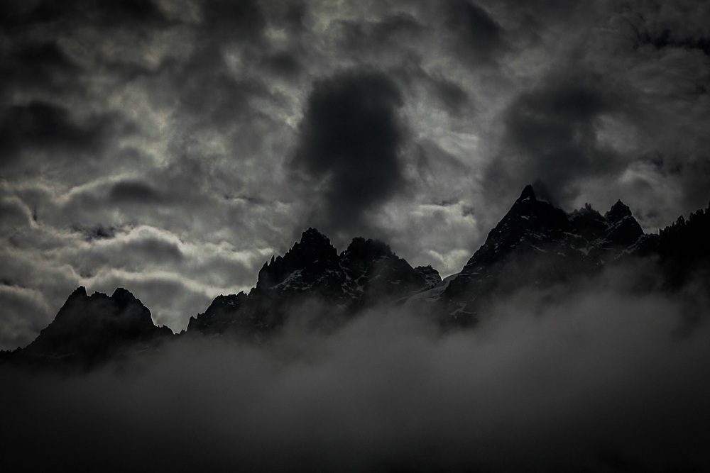 Swiss Alps black and white by Rick McEvoy landscape photographer