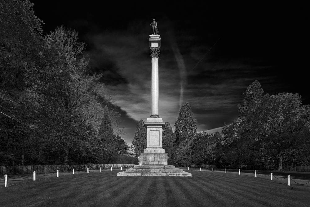 Wellington Memorial - black and white architectural photography in Hampshire by Rick McEvoy