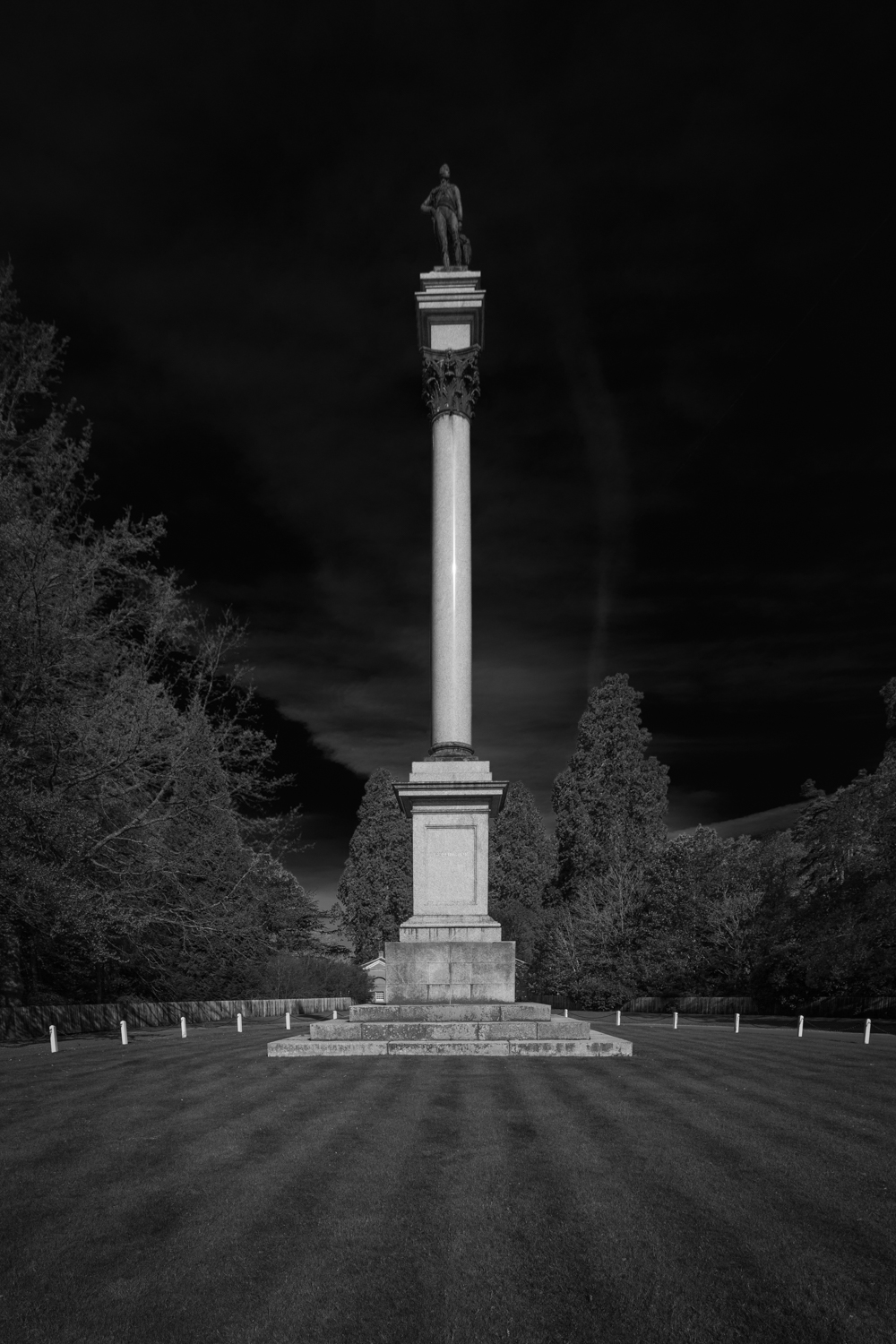 Wellington Memorial - black and white architectural photographers work in Hampshire by Rick McEvoy