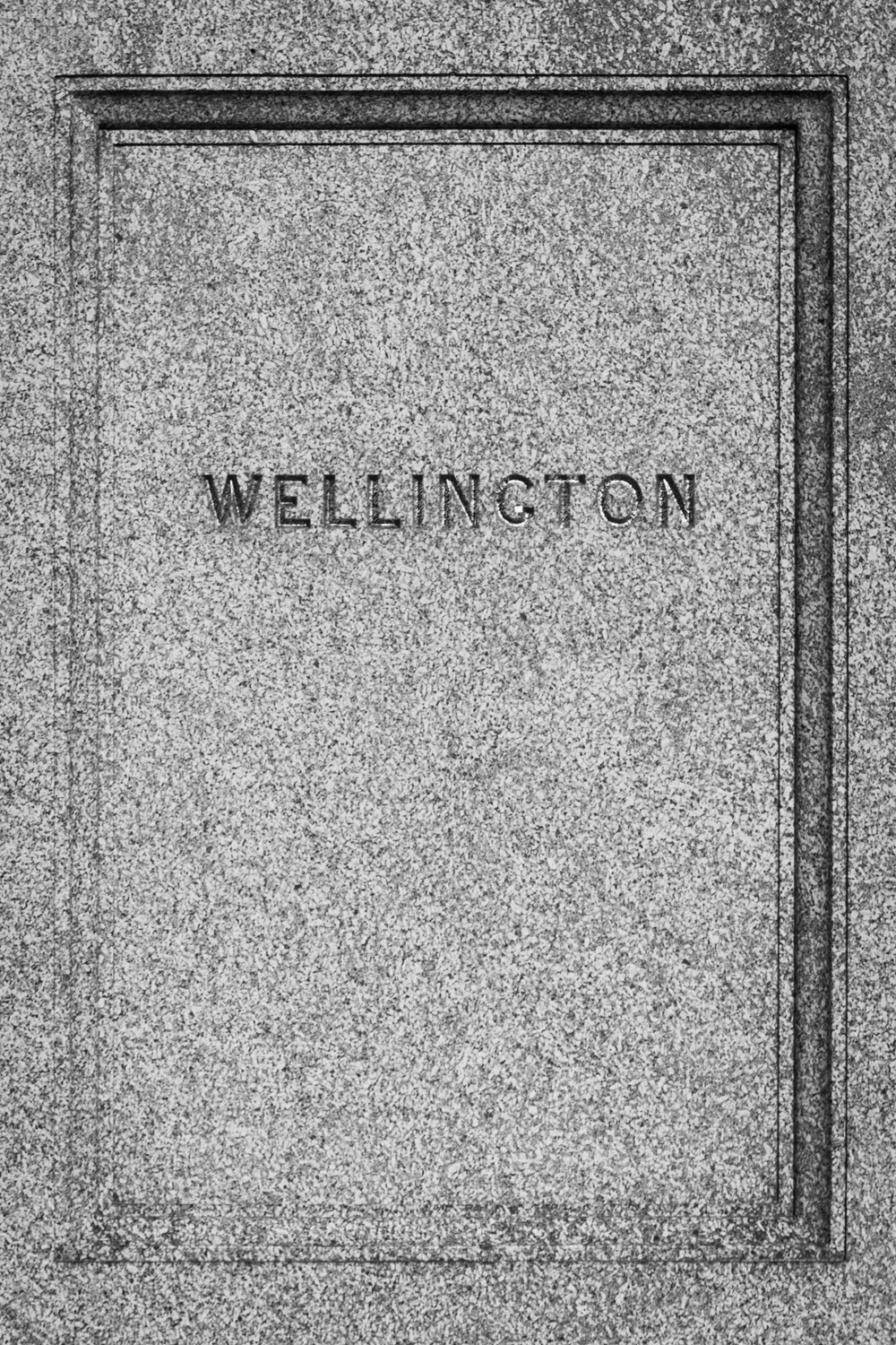 Wellington Memorial - black and white architecture photographer in Hampshire by Rick McEvoy