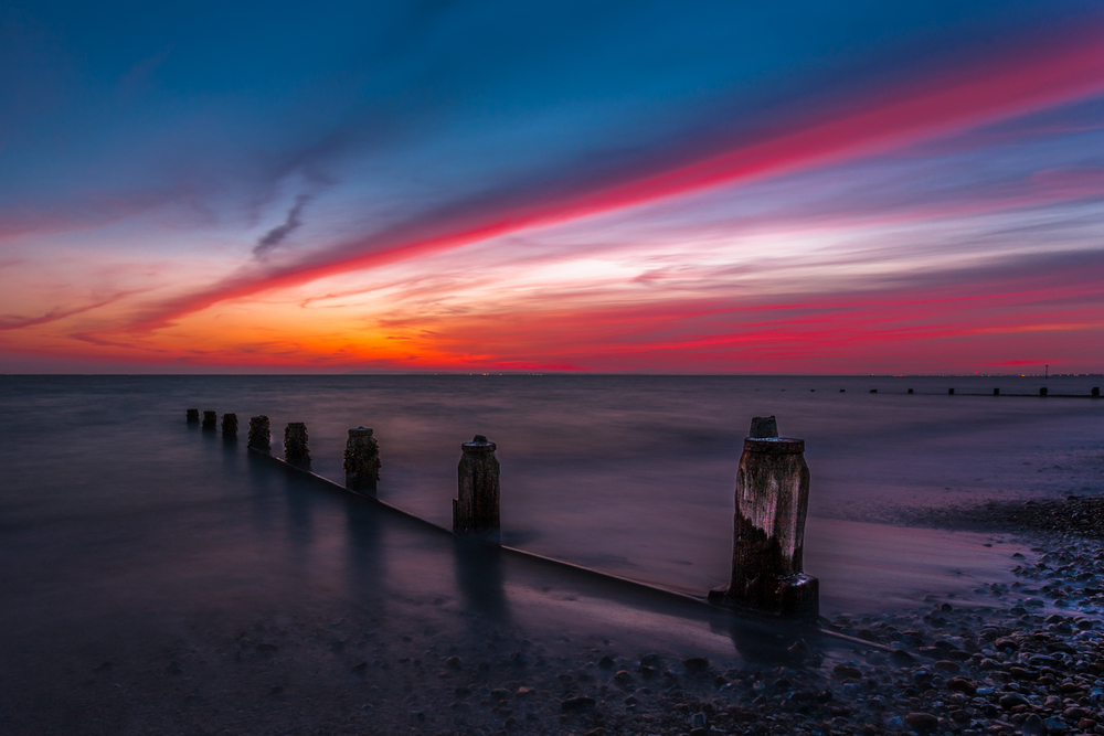 Bracklesham Bay Beach at Sunset