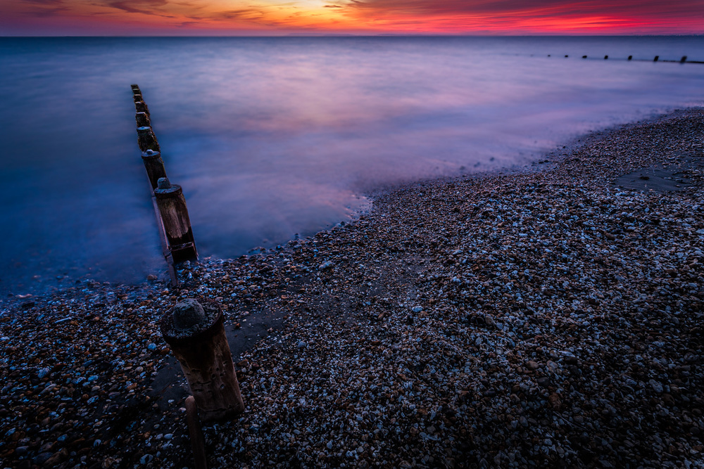 Bracklesham Bay at sunset - one of my favourite pictures of Hampshire