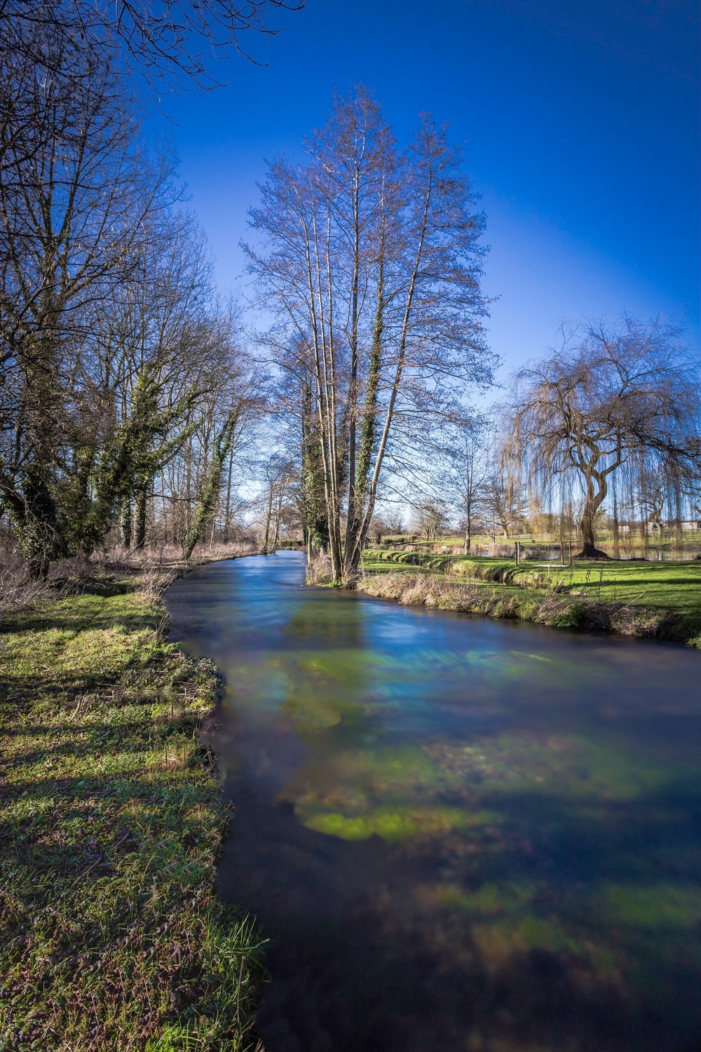 Long exposure picture of the river at Barton Stacey, Hampshire