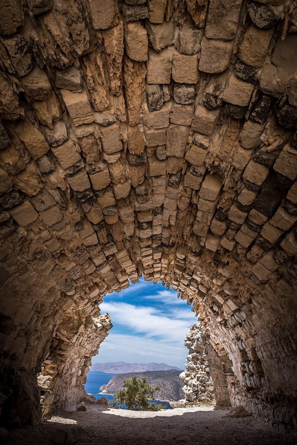 HDR Merged picture of Monolithos Castle