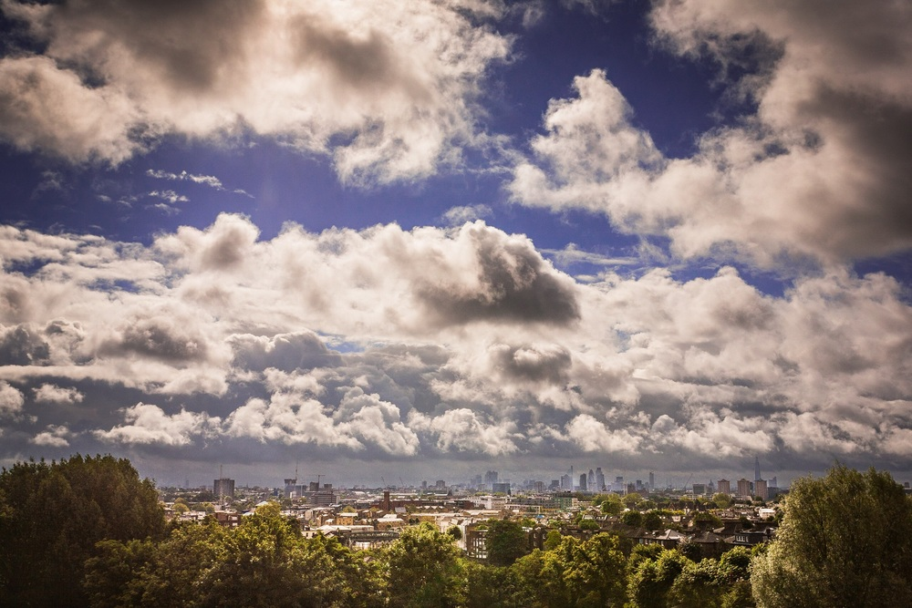 Picture of the London skyline viewed from Primrose Hill