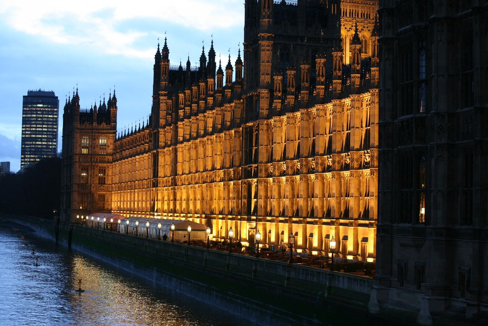 Picture of the Palace of Westminster in London, the world famous London landmark