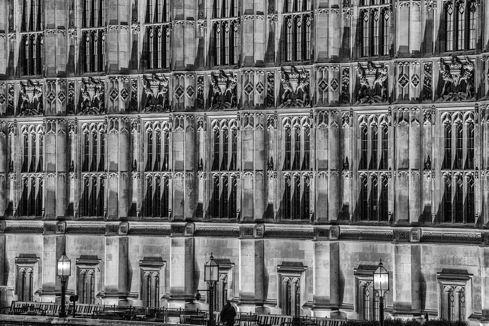 Detail picture of the south elevation of the Palace of Westminster, London Photography by Rick McEvoy