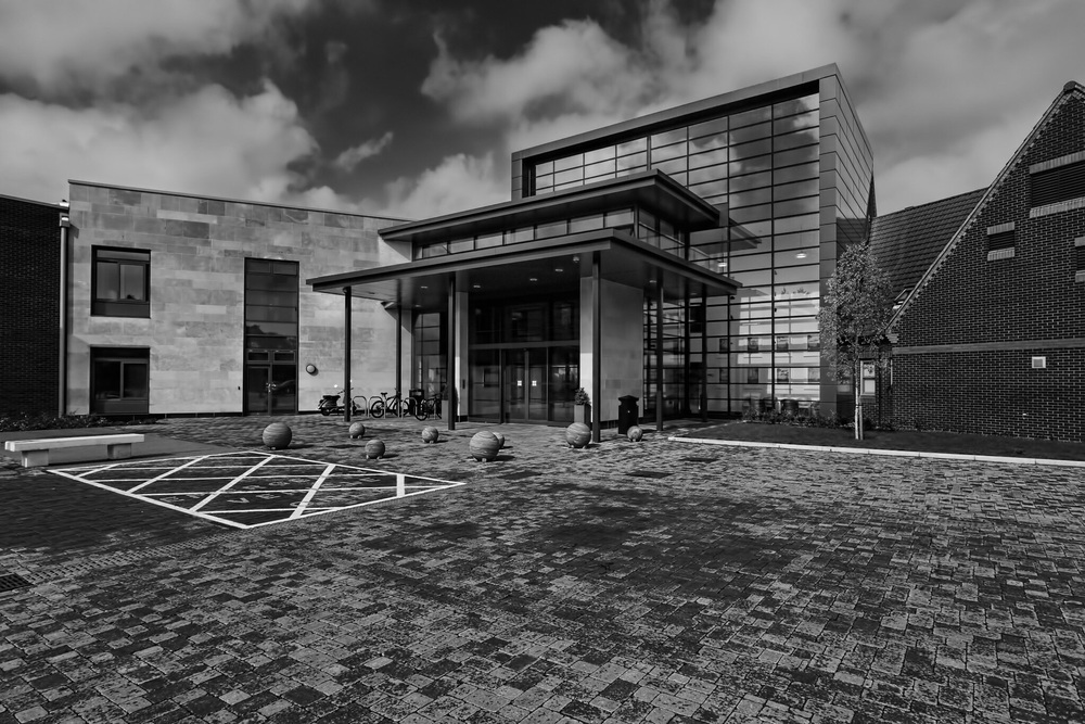St Ann's Hospital, Poole, Dorset - black and white architectural photography