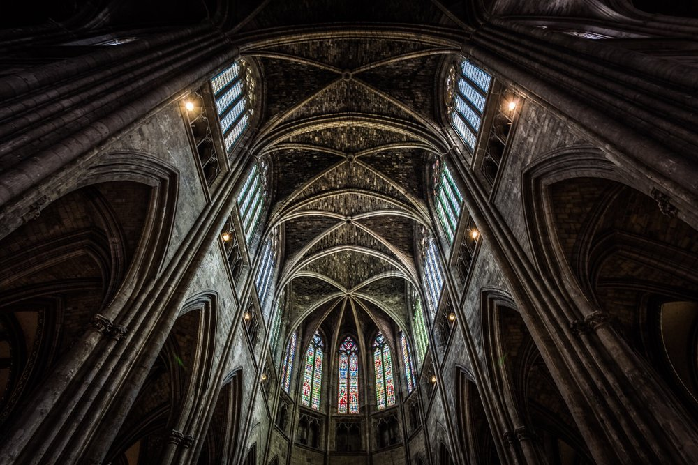 The interior of Bordeaux Cathedral, France