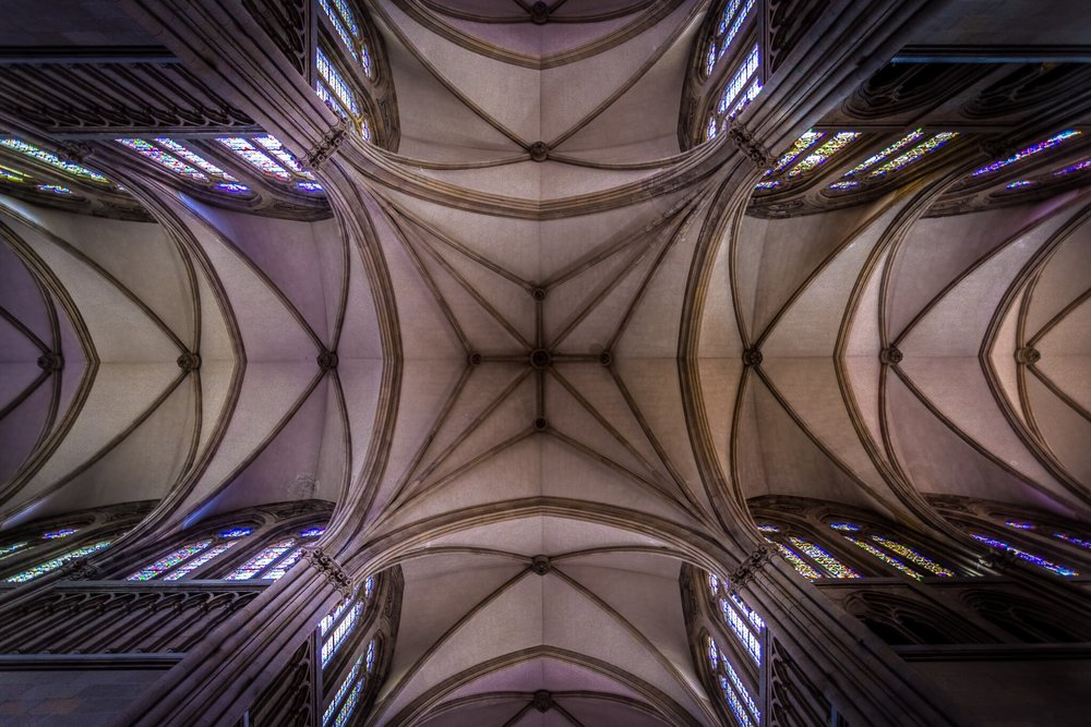 San Sebastián Cathedral by interior photographer Rick McEvoy