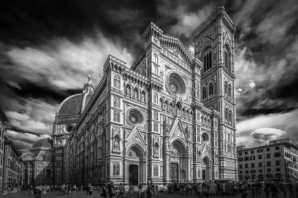 Duomo, Florence - black and white architectural photography