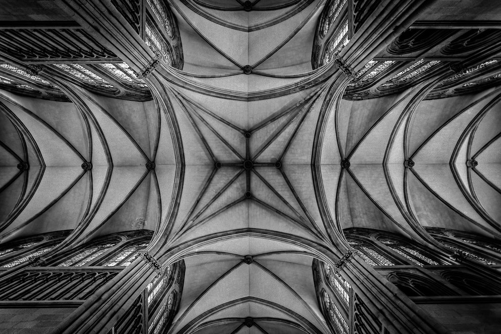 My picture of the ceiling of San Sebastián Cathedral - spectacular