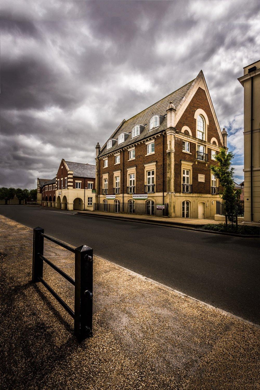 Part of the major construction development at Poundbury, Dorset, photographed for the architect, John Simpson Architects