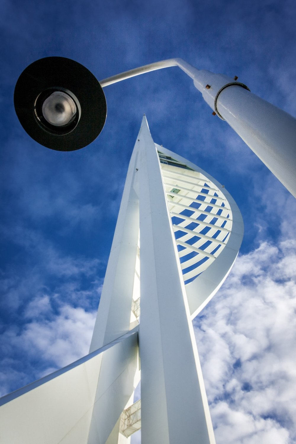 A different view of the Spinnaker Tower in Portsmouth - personal architecture photography work in Hampshire
