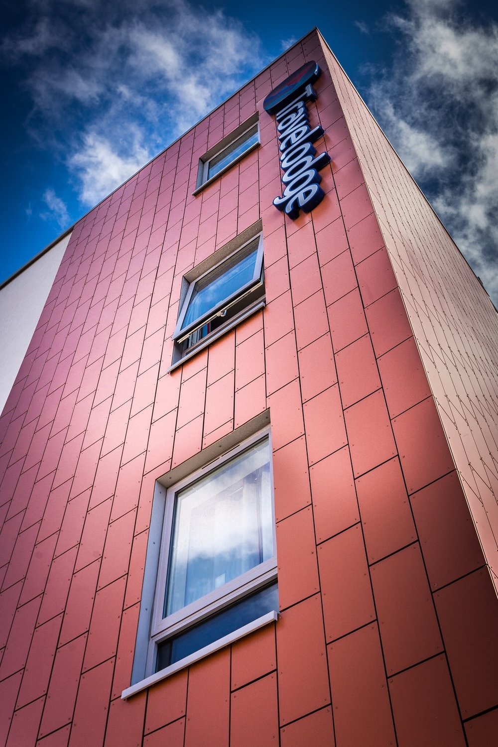 Southampton Central Travelodge, Southampton, Hampshire. Commercial architectural photography.