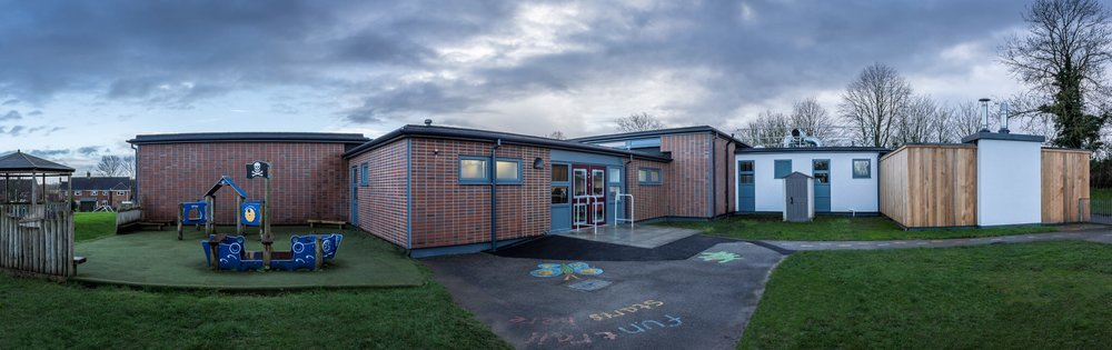 Panoramic architectural HDR image of a refurbished school in Hampshire