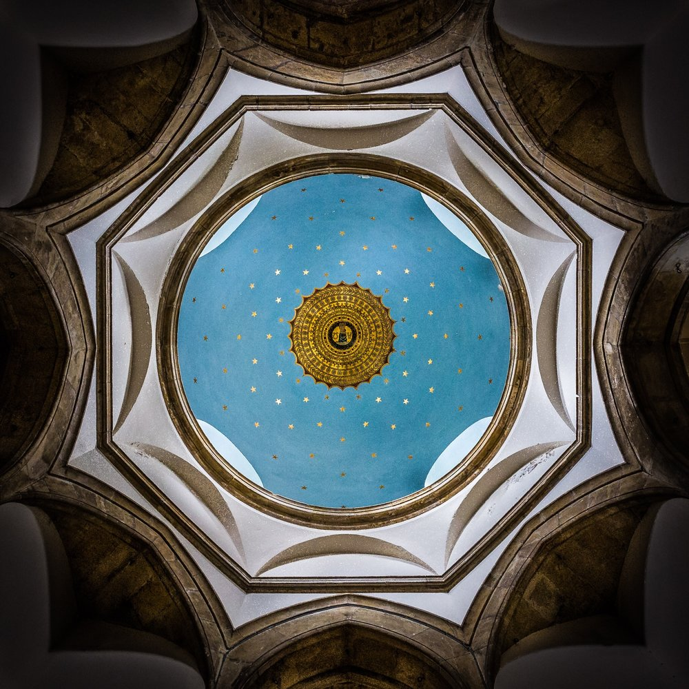 The stunning ceiling of the new domed roof of Chideock Church