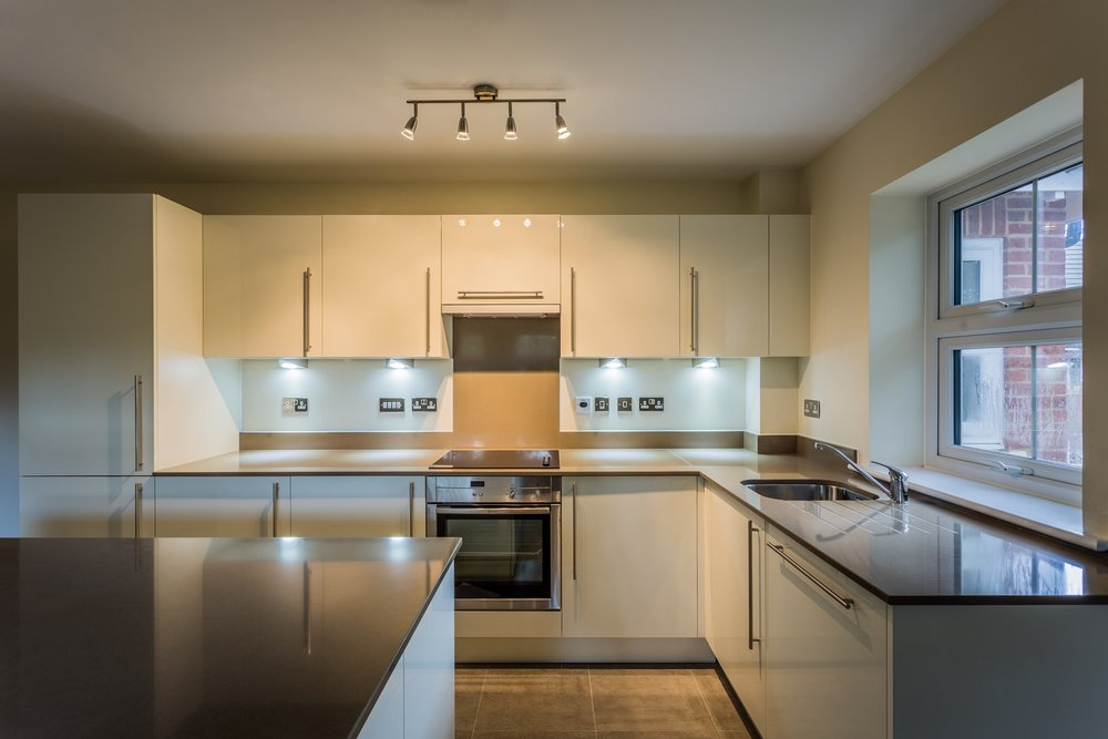 Kitchen in a new house in Southampton. Photographed for the company acting as Employers Agent.