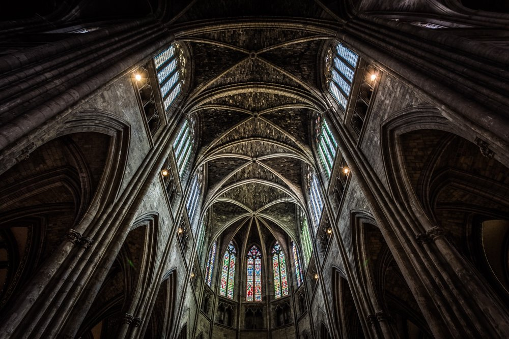 The stunning interior of Bordeaux Cathedral, France