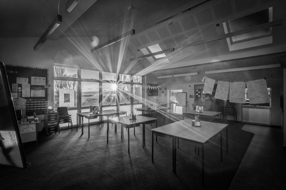 Sunny classroom in Poole