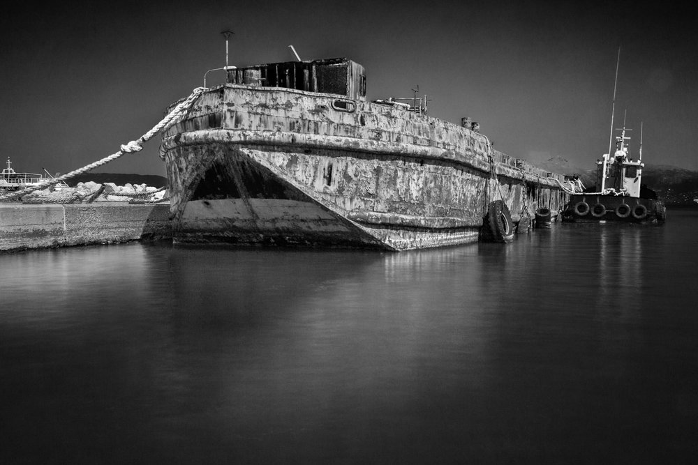 Rusty boat - industrial photography by Rick McEvoy