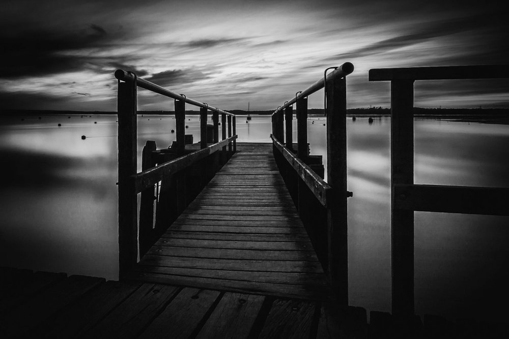 Black and white landscape photography in Poole